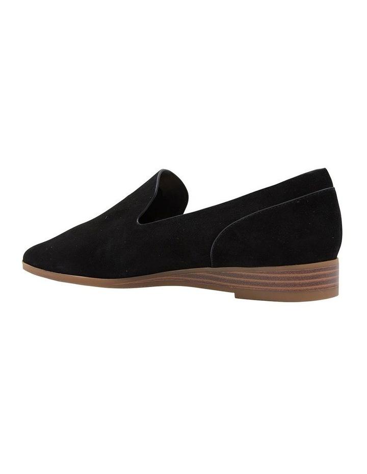 Talbot Black Suede Flat Shoes image 4