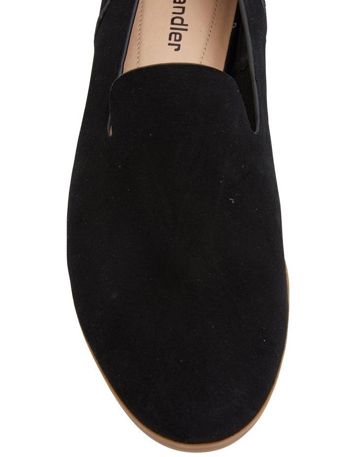 Talbot Black Suede Flat Shoes image 5