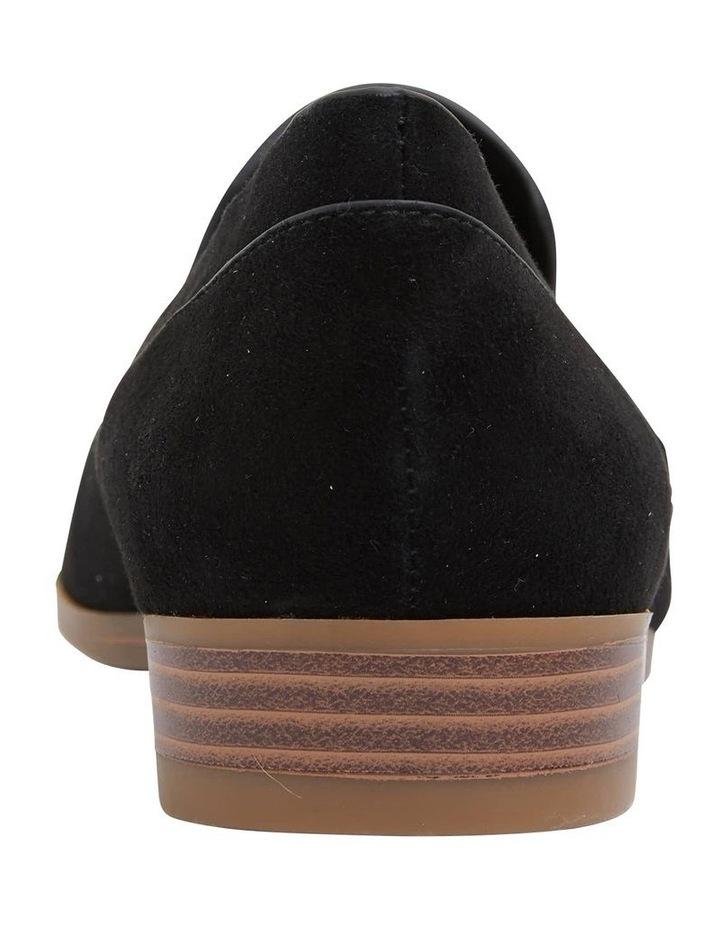 Talbot Black Suede Flat Shoes image 6
