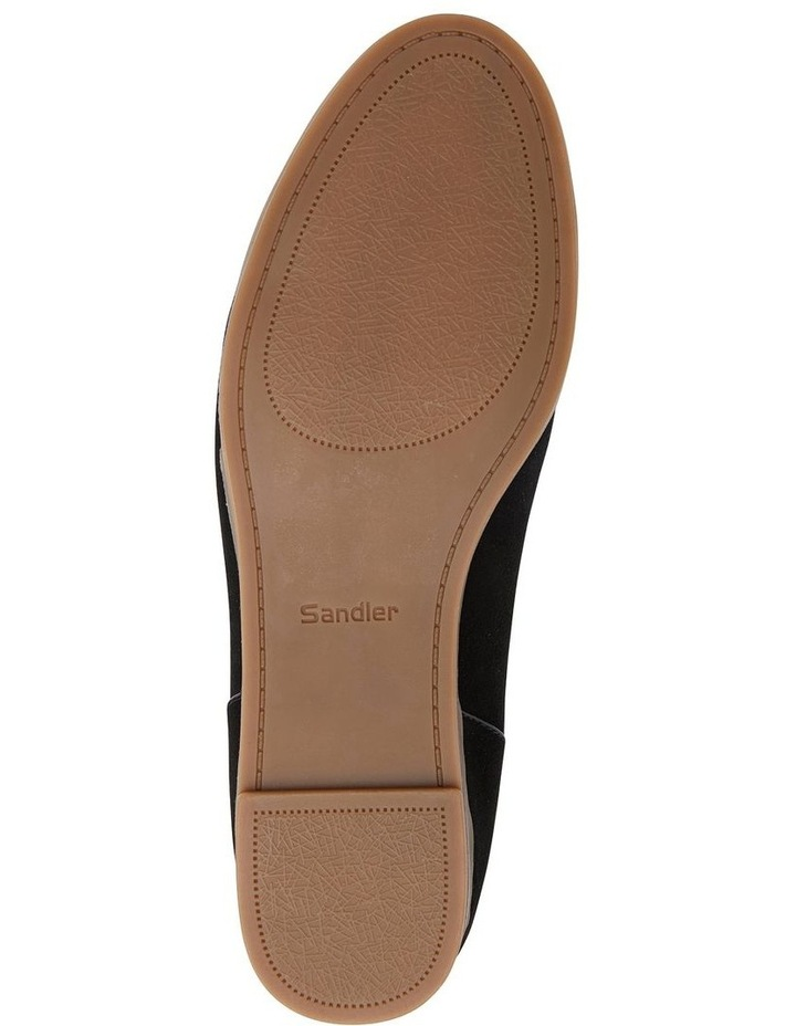 Talbot Black Suede Flat Shoes image 7