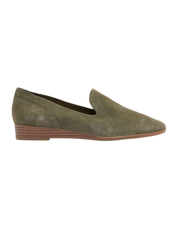 Talbot Khaki Suede Flat Shoes image 1