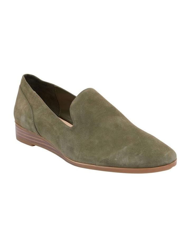 Talbot Khaki Suede Flat Shoes image 2