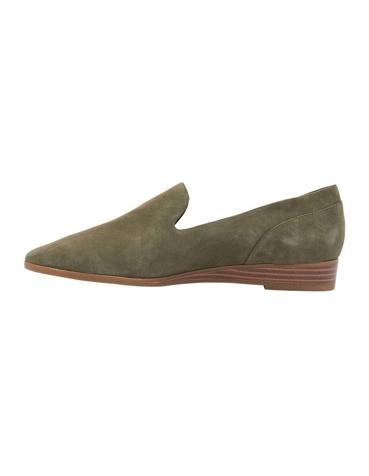 Talbot Khaki Suede Flat Shoes image 3