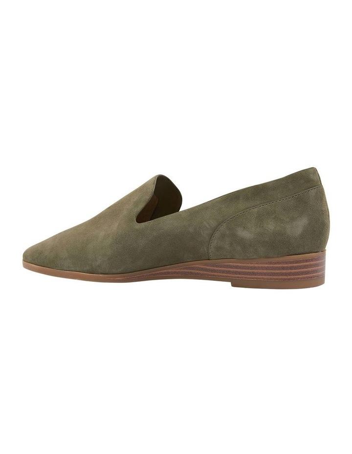 Talbot Khaki Suede Flat Shoes image 4