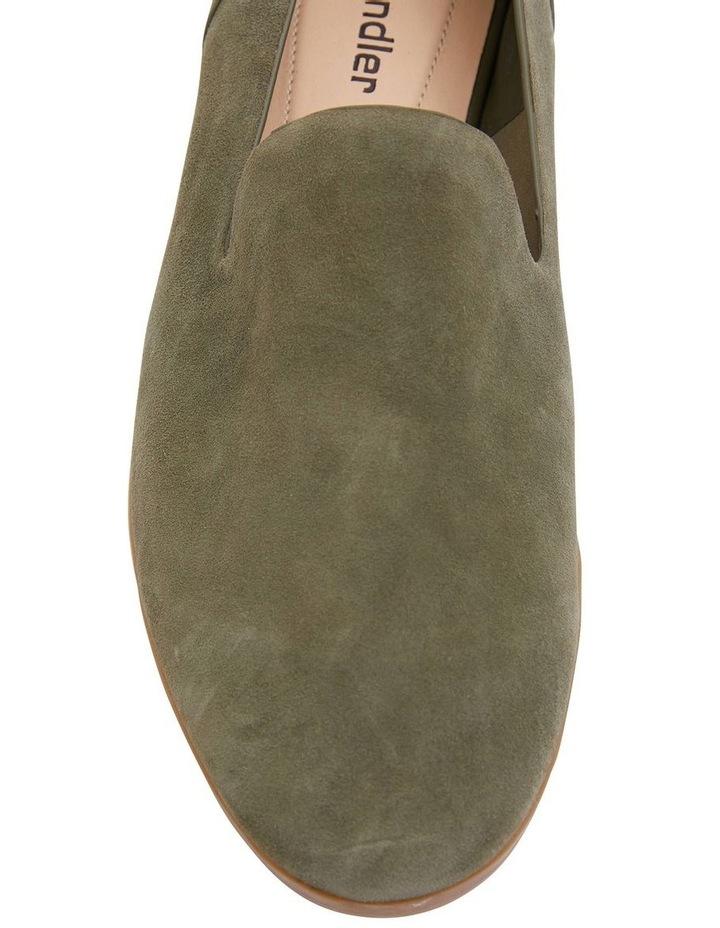 Talbot Khaki Suede Flat Shoes image 5