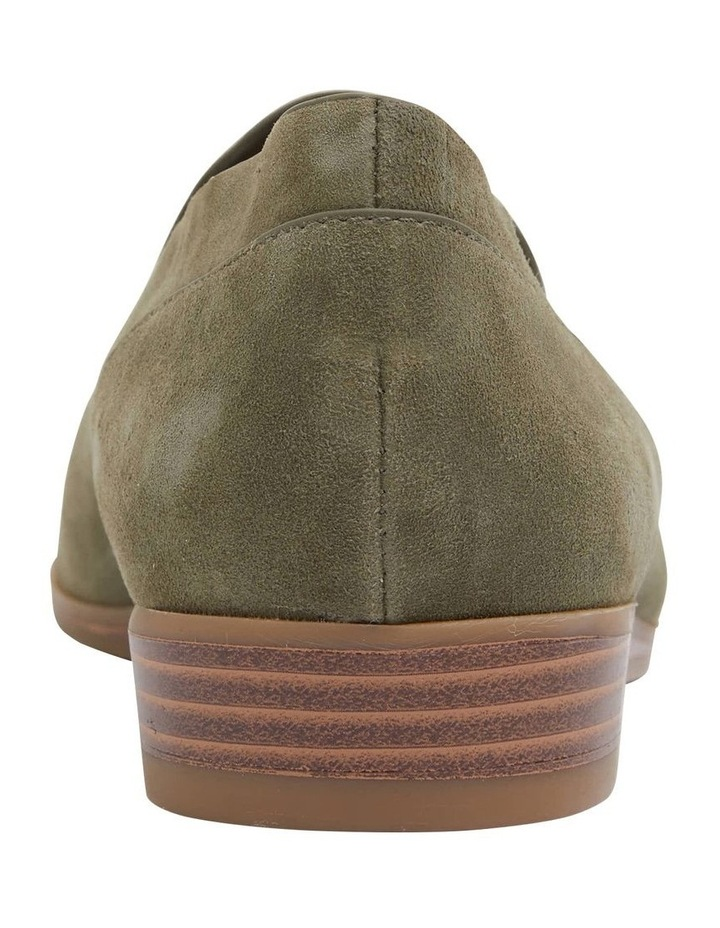 Talbot Khaki Suede Flat Shoes image 6