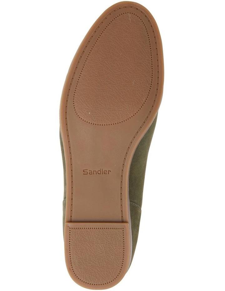 Talbot Khaki Suede Flat Shoes image 7
