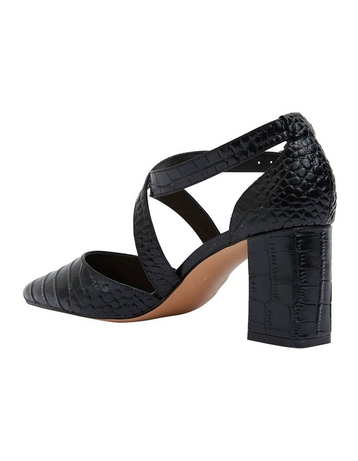 Kara Black Croc Heeled Shoes image 4