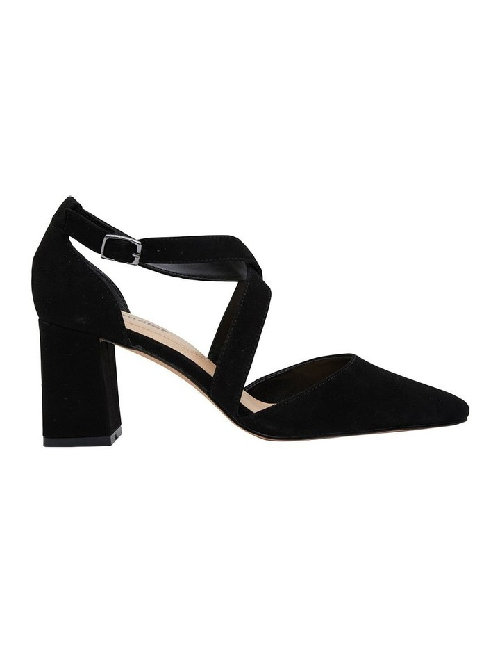 Kara Black Suede Heeled Shoes image 1