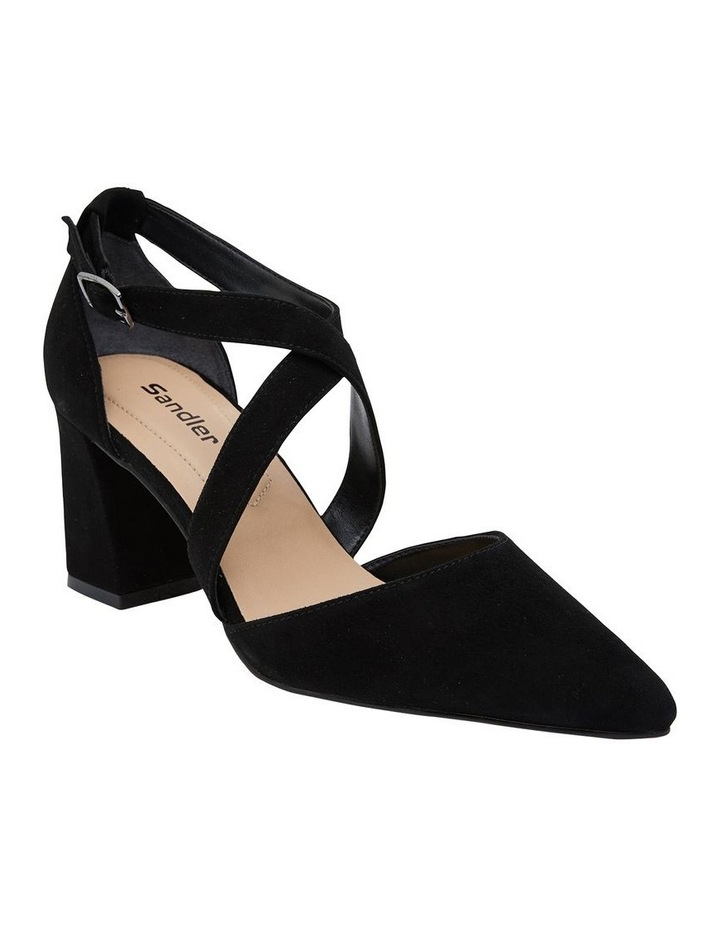 Kara Black Suede Heeled Shoes image 2