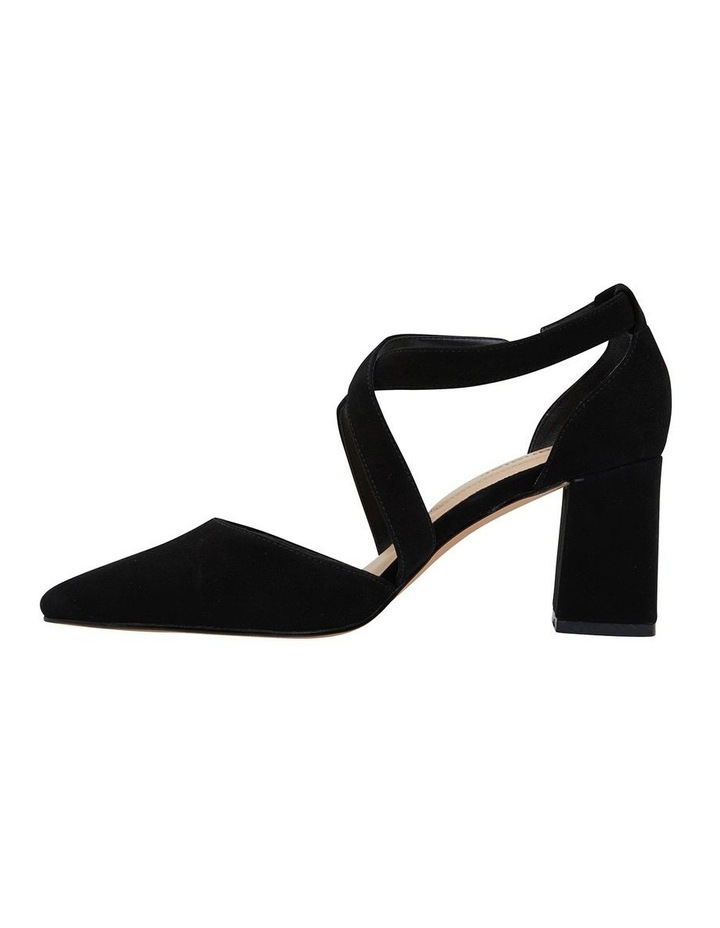 Kara Black Suede Heeled Shoes image 3