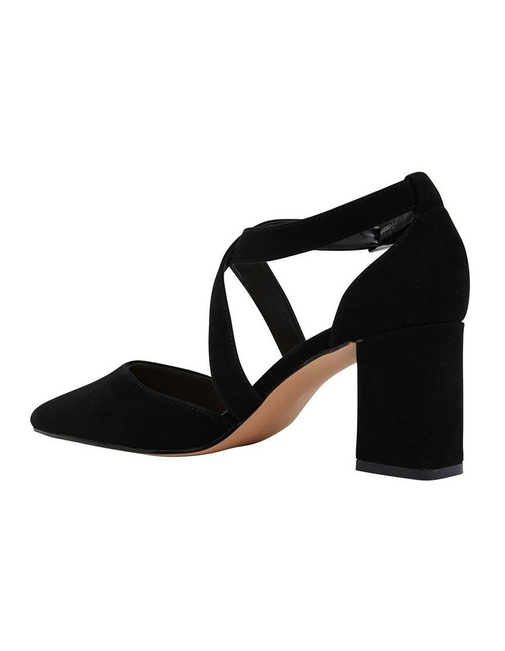 Kara Black Suede Heeled Shoes image 4