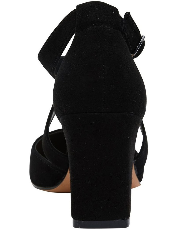 Kara Black Suede Heeled Shoes image 6