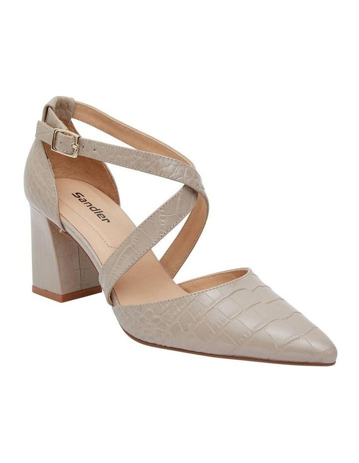 Kara Nude Croc Heeled Shoes image 2