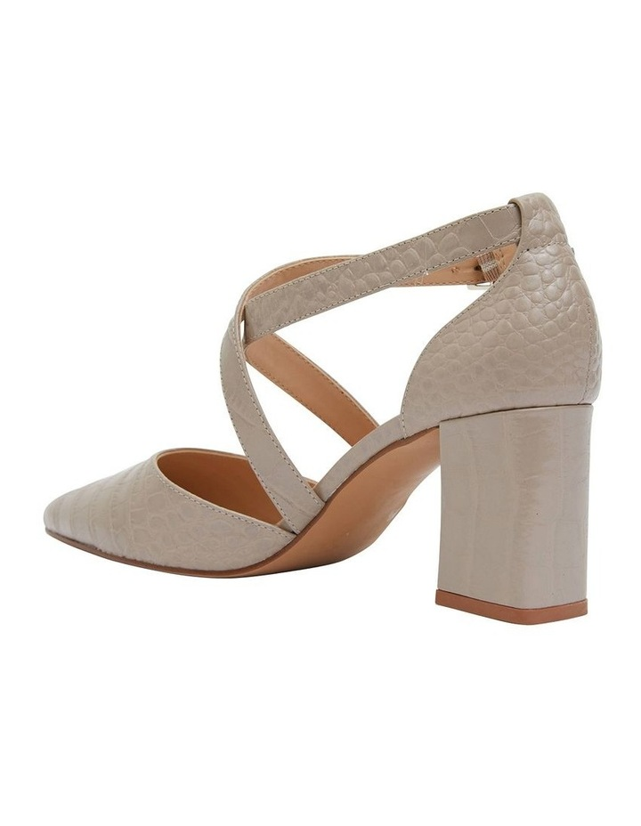 Kara Nude Croc Heeled Shoes image 4