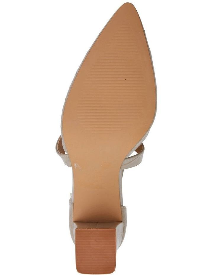 Kara Nude Croc Heeled Shoes image 7