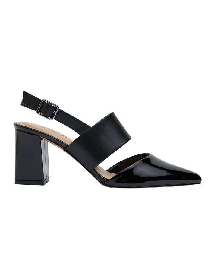 Kitson Black Patent/Glove Heeled Shoes image 1