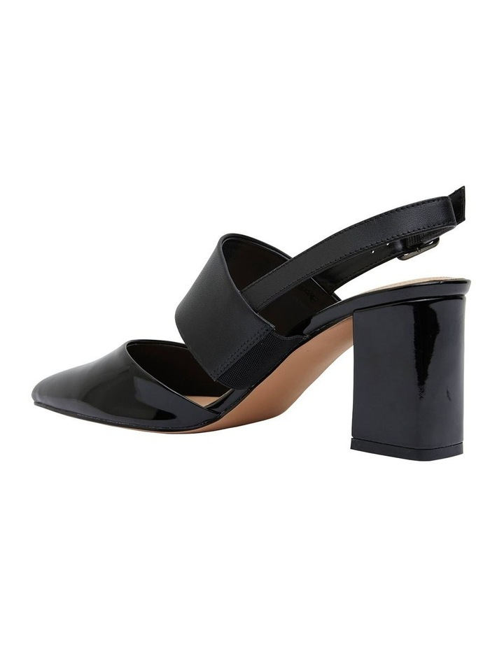 Kitson Black Patent/Glove Heeled Shoes image 4