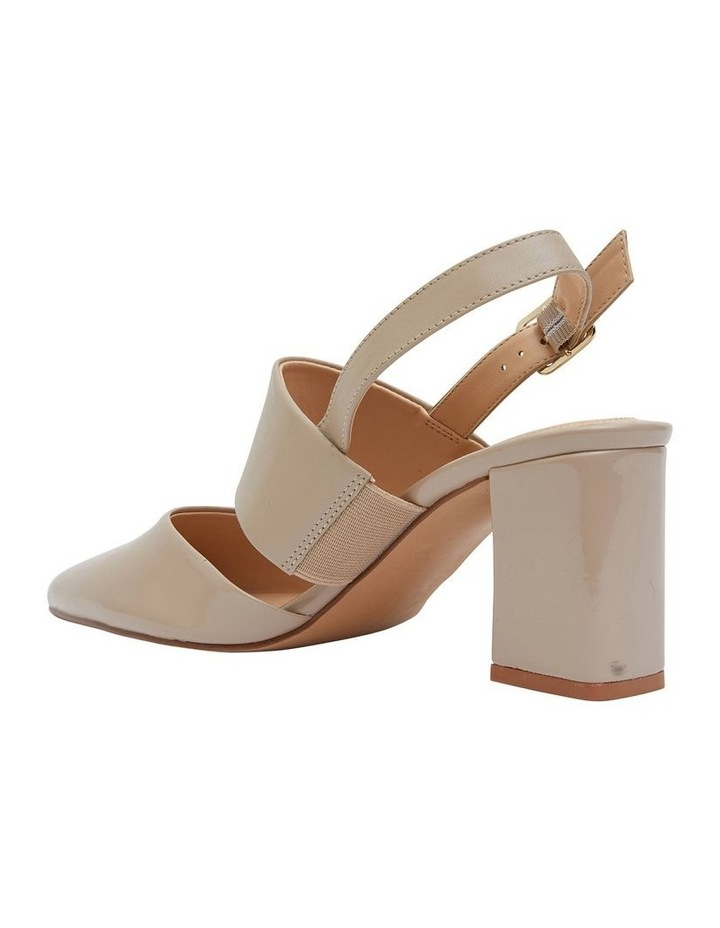 Kitson Nude Patent/Glove Heeled Shoes image 4