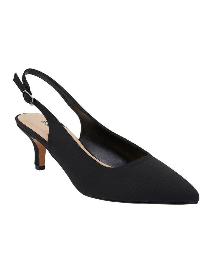 Nina Black Fabric Heeled Shoes image 2