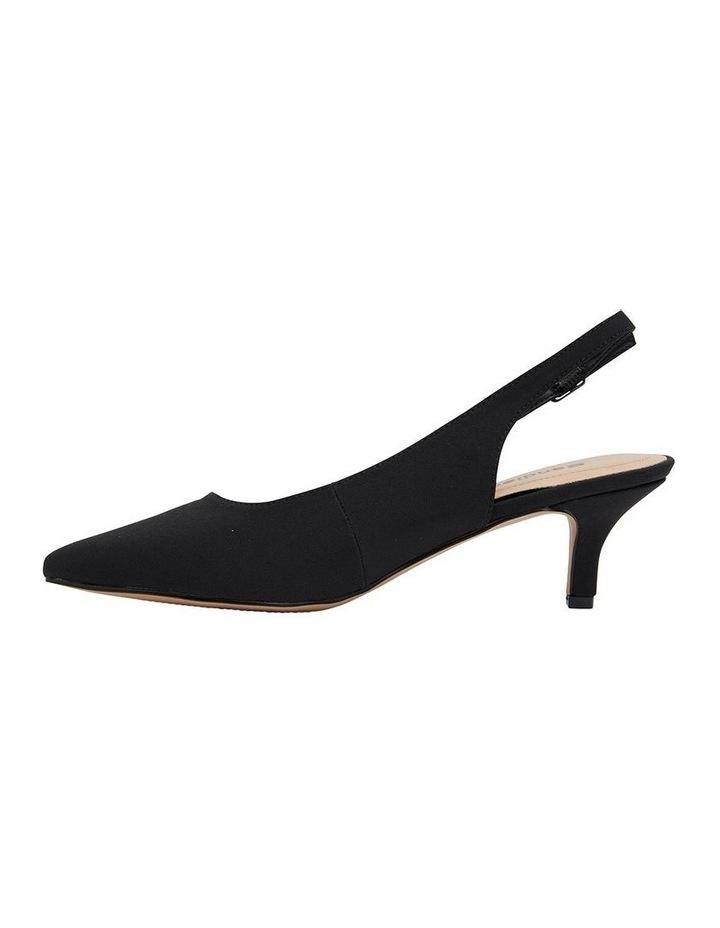 Nina Black Fabric Heeled Shoes image 3