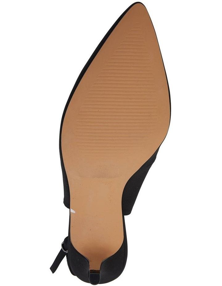 Nina Black Fabric Heeled Shoes image 7