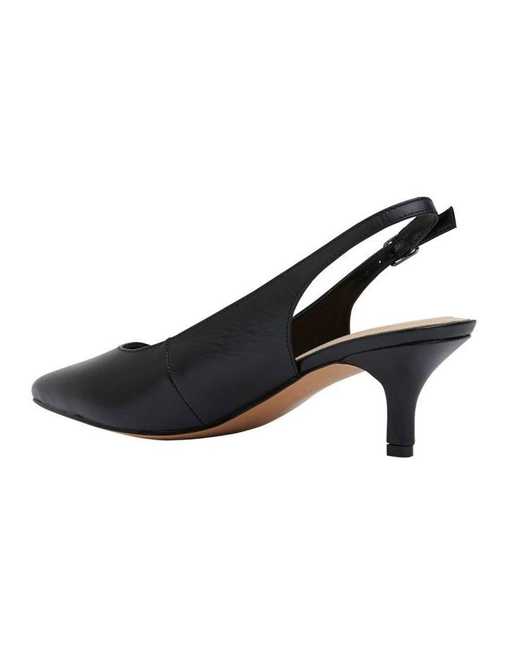 Nina Black Glove Heeled Shoes image 4