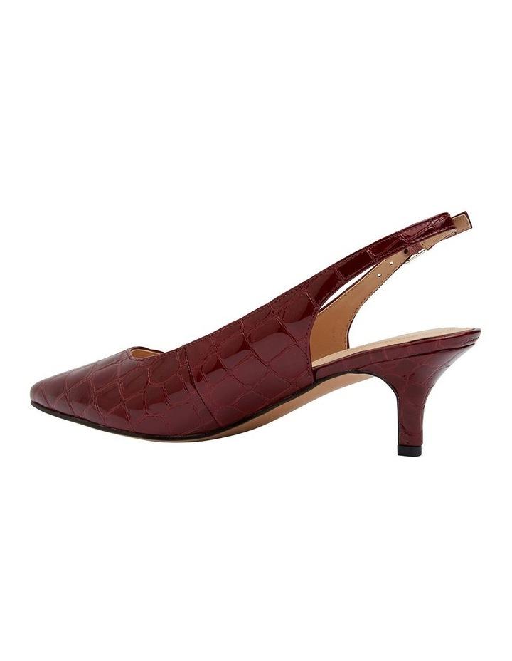 Nina Burgundy Patent Croc Heeled Shoes image 4