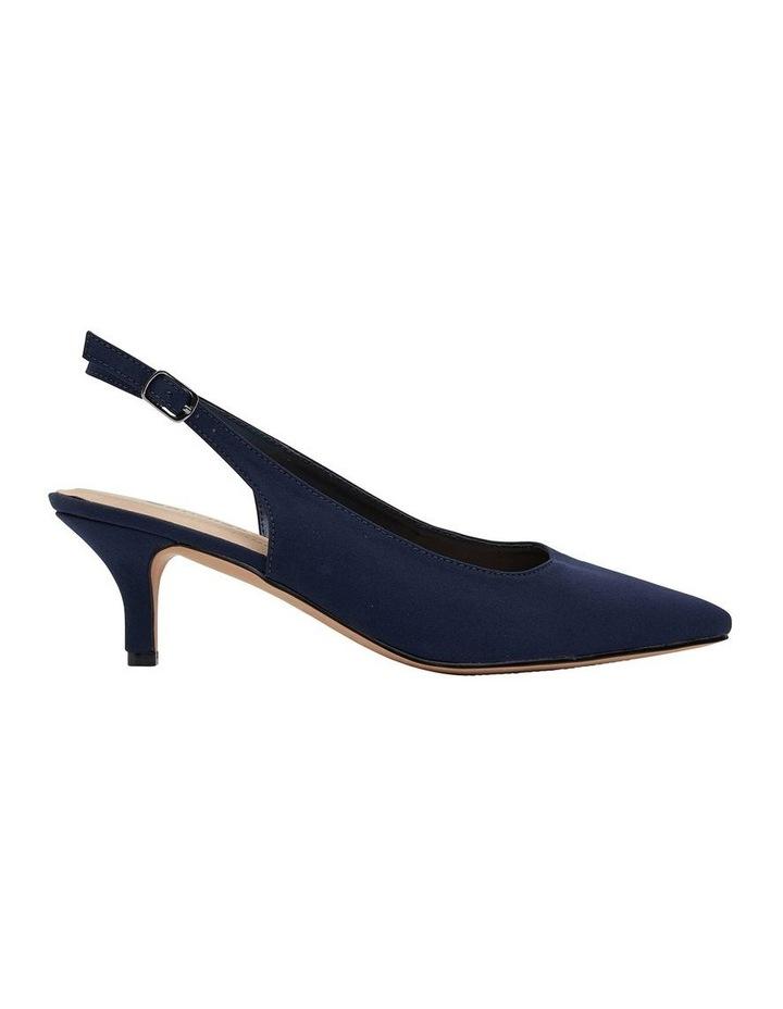 Nina Navy Fabric Heeled Shoes image 1