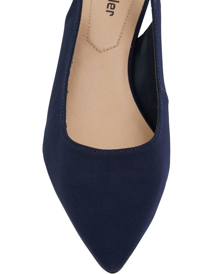 Nina Navy Fabric Heeled Shoes image 5