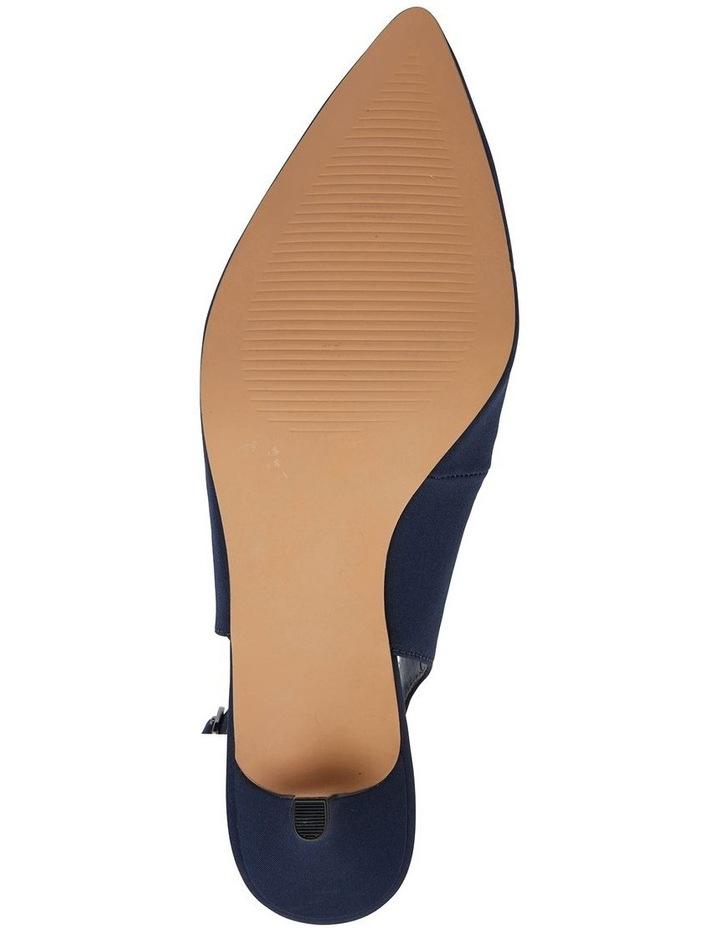 Nina Navy Fabric Heeled Shoes image 7