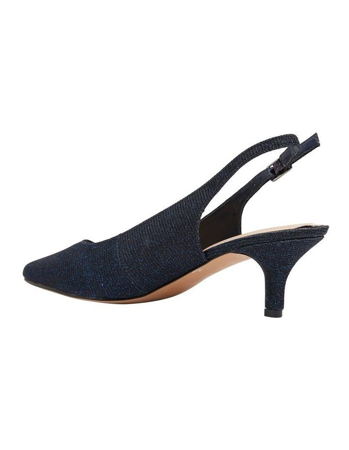 Nina Navy Sparkle Heeled Shoes image 4