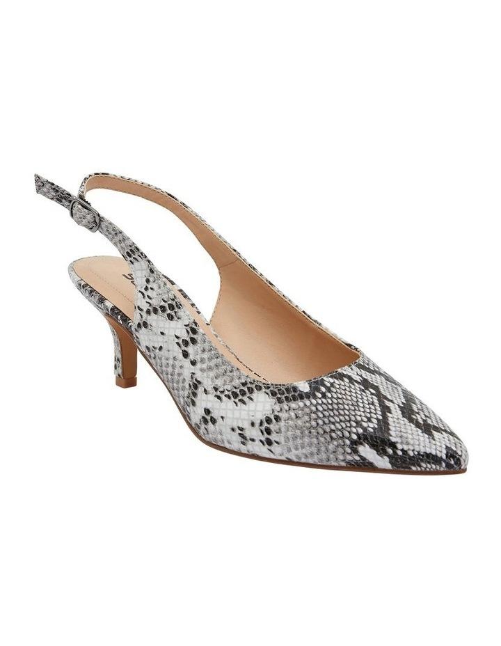 Nina Neutral Snake Heeled Shoes image 2