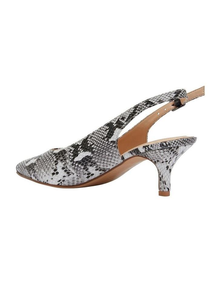 Nina Neutral Snake Heeled Shoes image 4