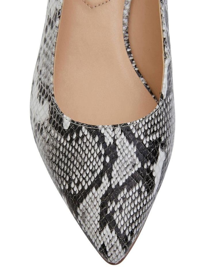 Nina Neutral Snake Heeled Shoes image 5