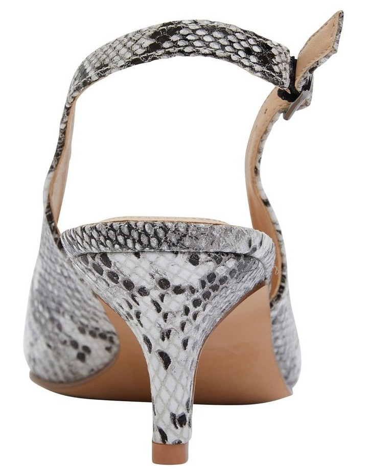 Nina Neutral Snake Heeled Shoes image 6