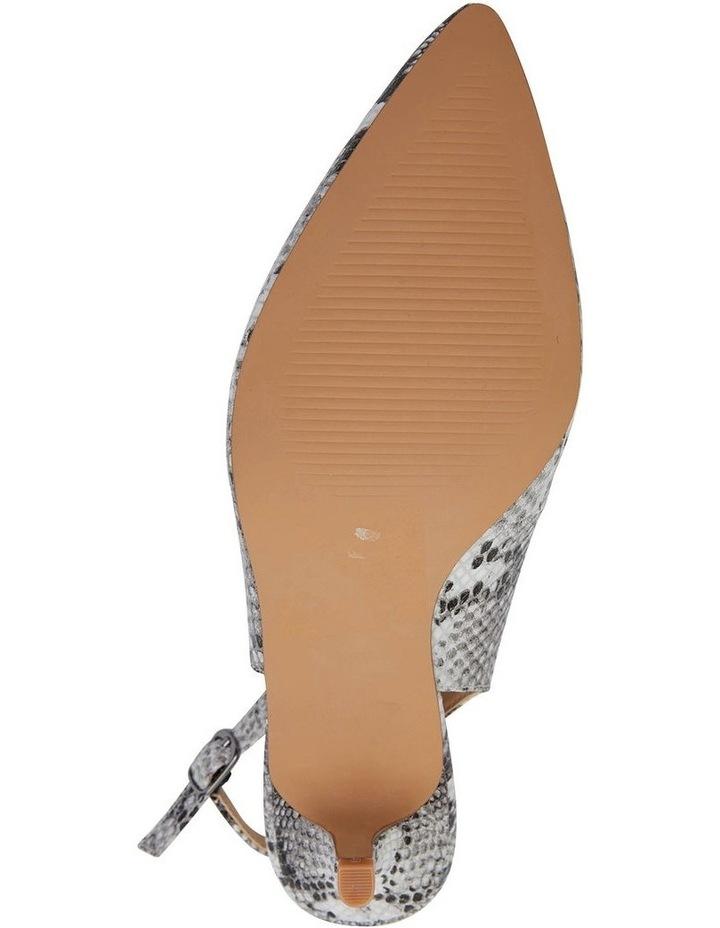 Nina Neutral Snake Heeled Shoes image 7