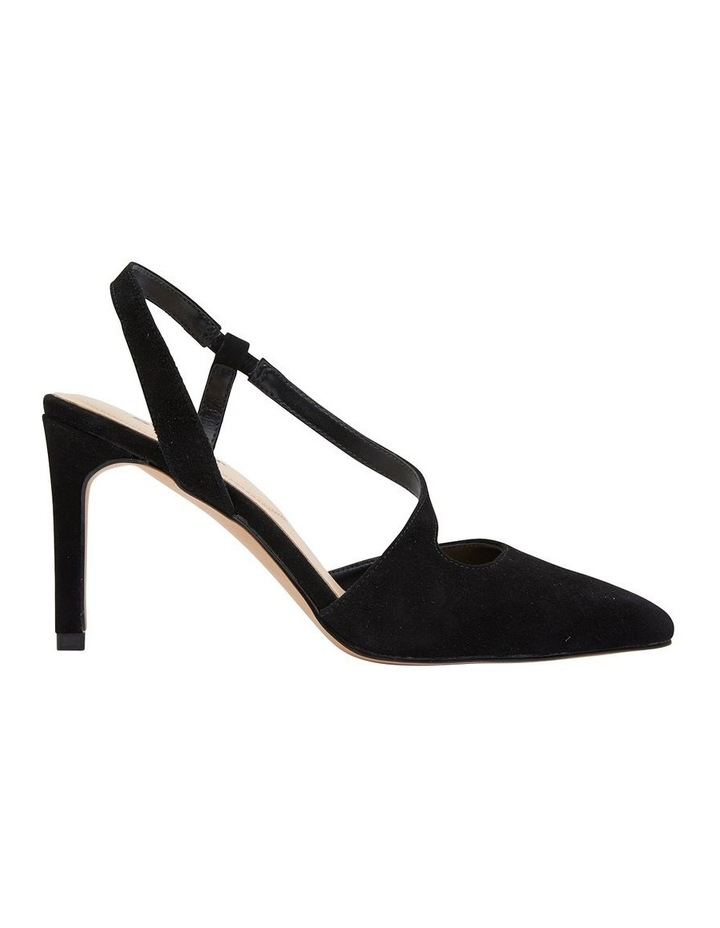 Odessa Black Suede Heeled Shoes image 1