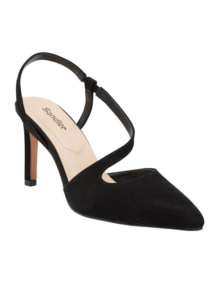 Odessa Black Suede Heeled Shoes image 2