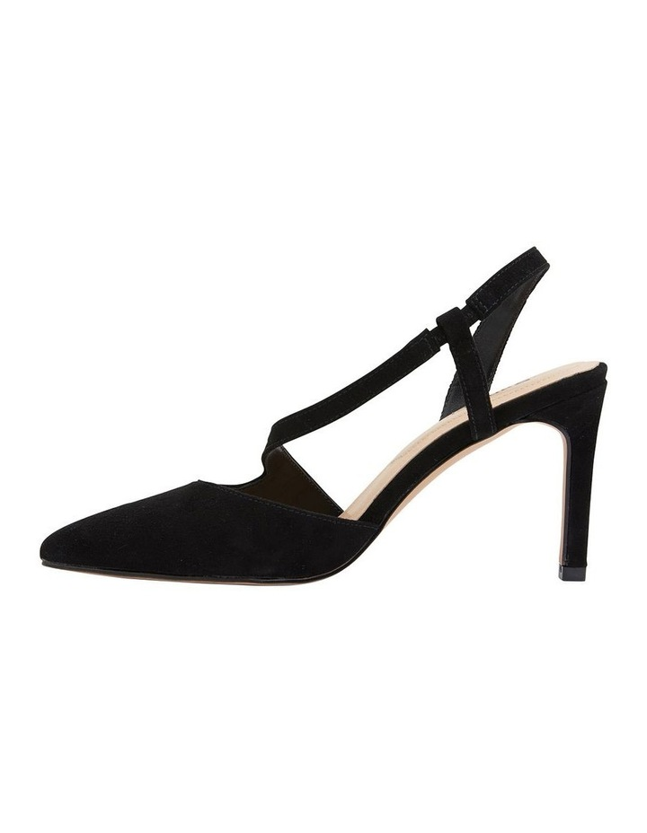 Odessa Black Suede Heeled Shoes image 3