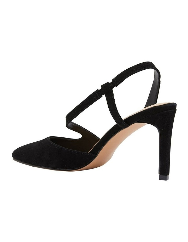 Odessa Black Suede Heeled Shoes image 4