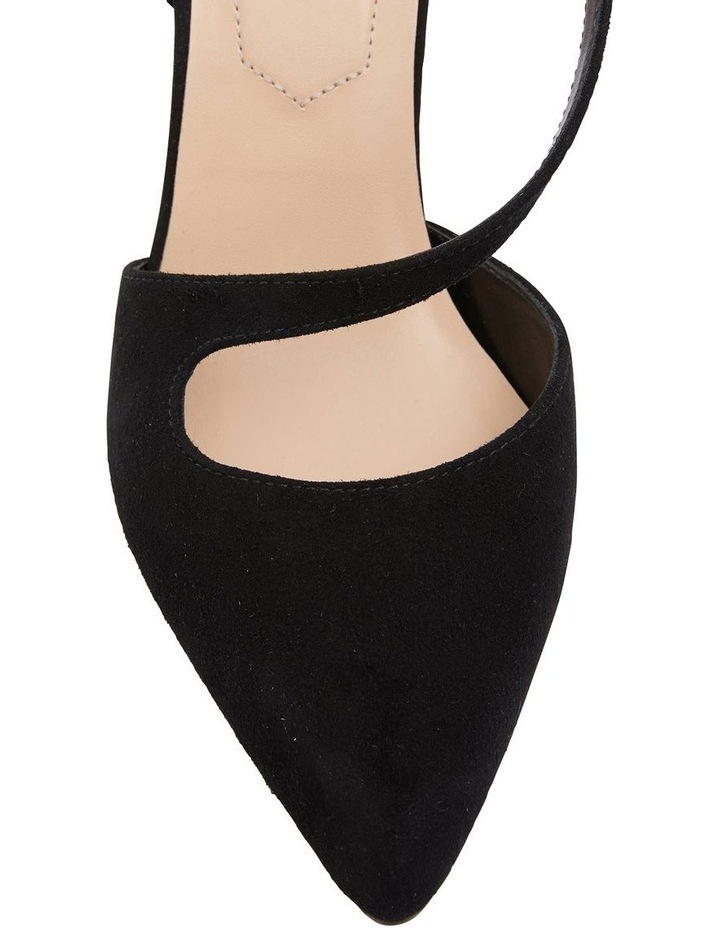 Odessa Black Suede Heeled Shoes image 5