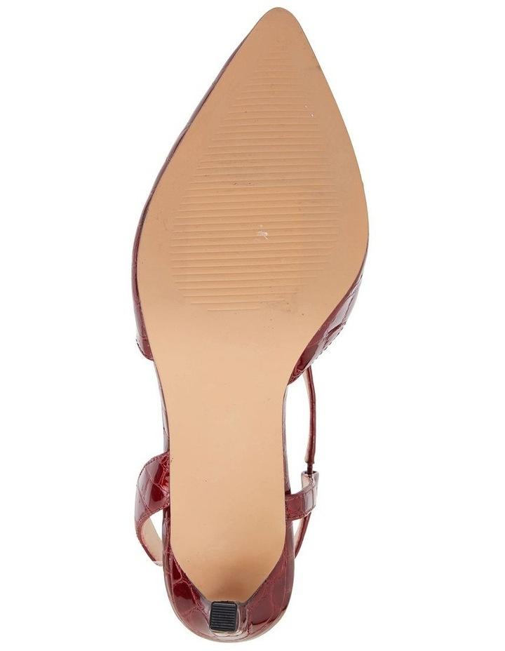 Odessa Burgundy Patent Croc Heeled Shoes image 7