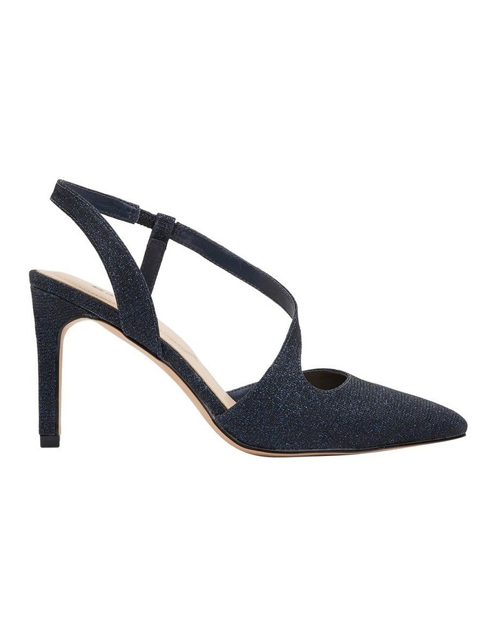 Odessa Navy Sparkle Heeled Shoes image 1