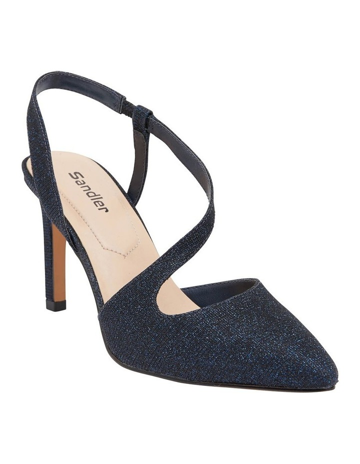 Odessa Navy Sparkle Heeled Shoes image 2