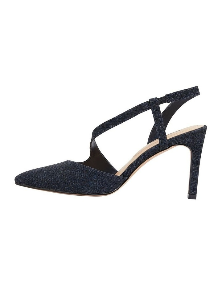 Odessa Navy Sparkle Heeled Shoes image 3
