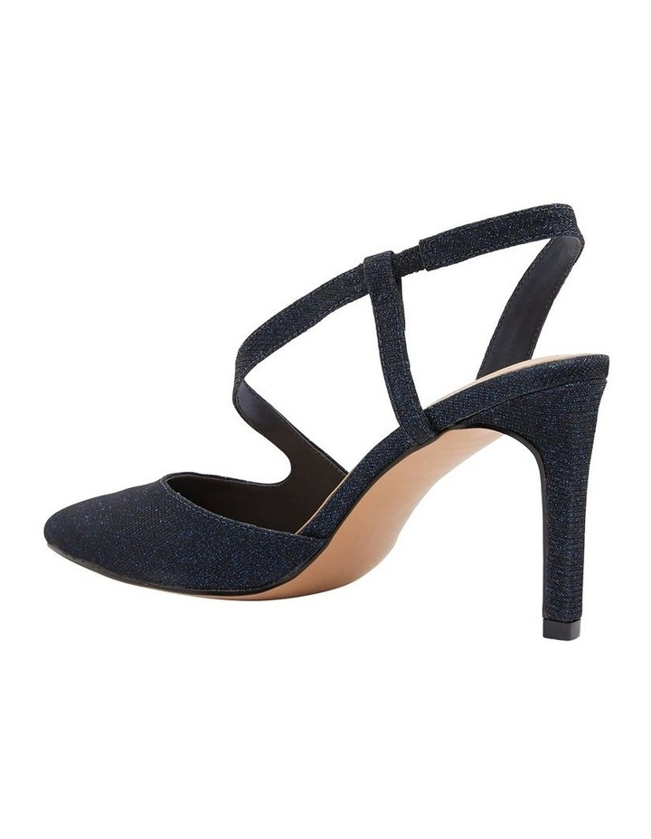 Odessa Navy Sparkle Heeled Shoes image 4