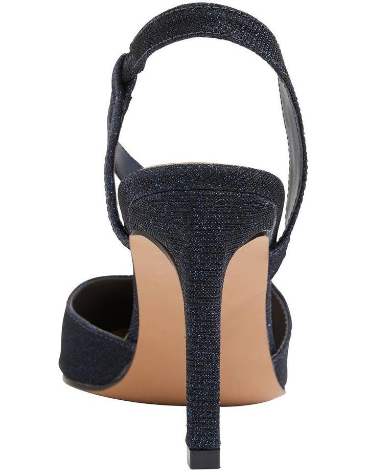 Odessa Navy Sparkle Heeled Shoes image 6