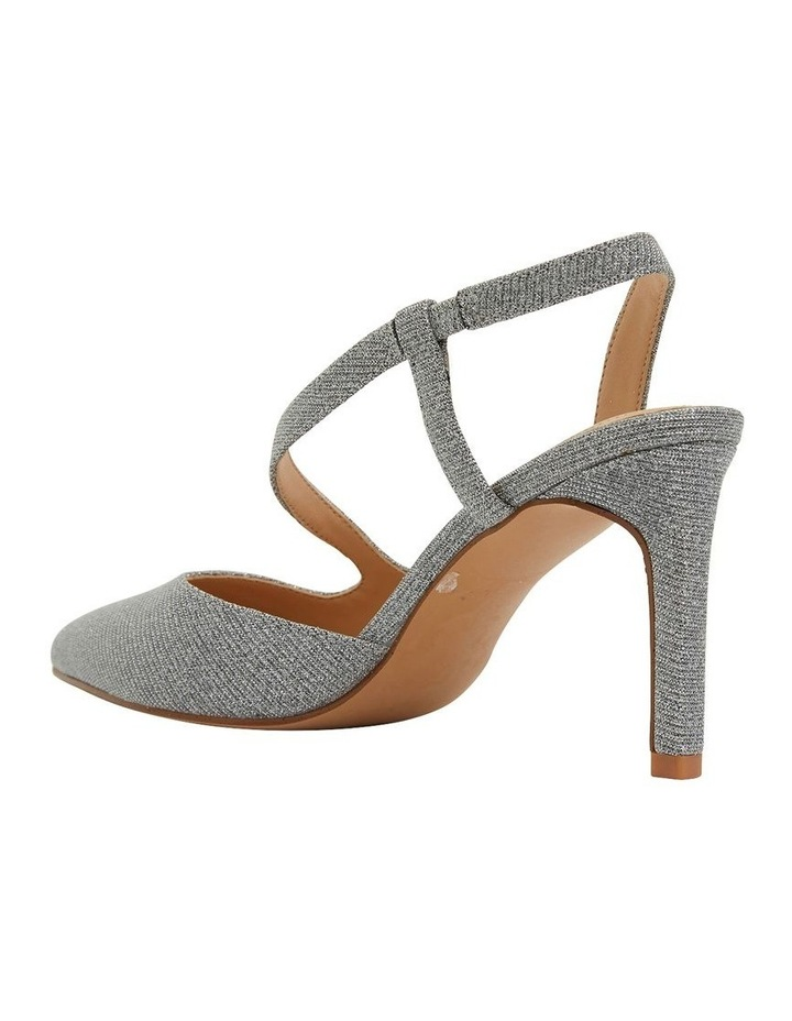 Odessa Pewter Sparkle Heeled Shoes image 4