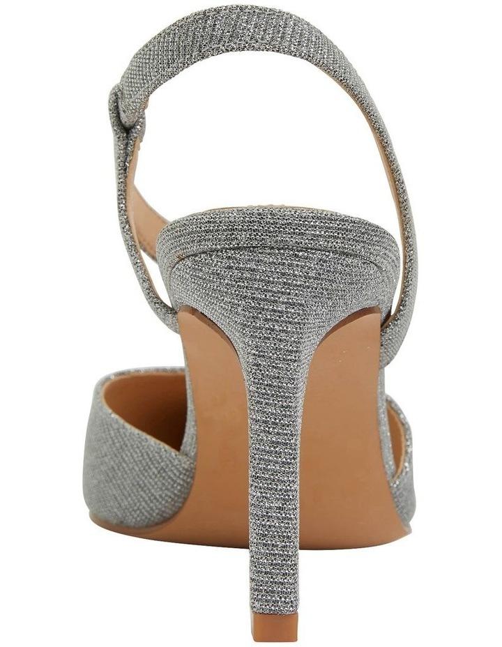 Odessa Pewter Sparkle Heeled Shoes image 6